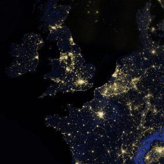 L'activité des villes du nord-ouest de l'Europe vue du ciel