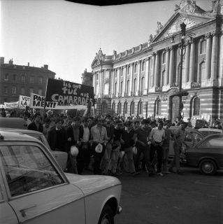 Nuit d'émeutes pendant mai 68 à Toulouse