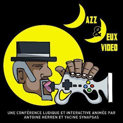 """Affiche de conférence musico ludique """"Jazz et jeu vidéo ! mariage impossible ?"""""""