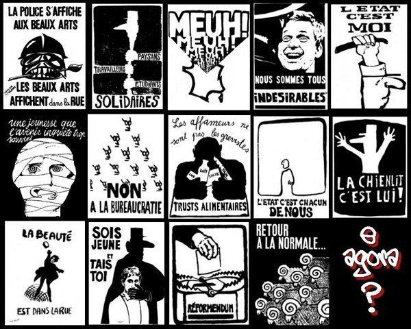Vignettes d'affiches de mai 68