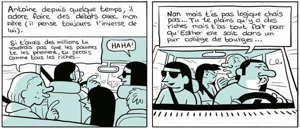 Planche extraite de la bande dessinée Les Cahiers d'Esther, histoires de mes 12 ans © Riad Sattouf, Allary Éditions, 2017