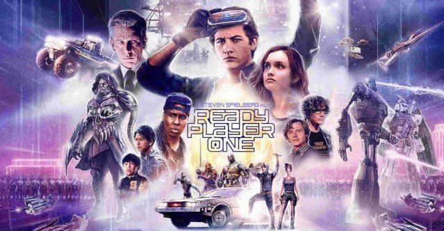 Image reprenant notamment les principaux personnages du film Ready Player One de Steven Spielberg (2018)