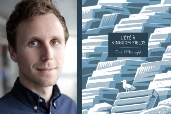 Portrait de Jon McNaught et couverture de L'Été à Kingdom Fields