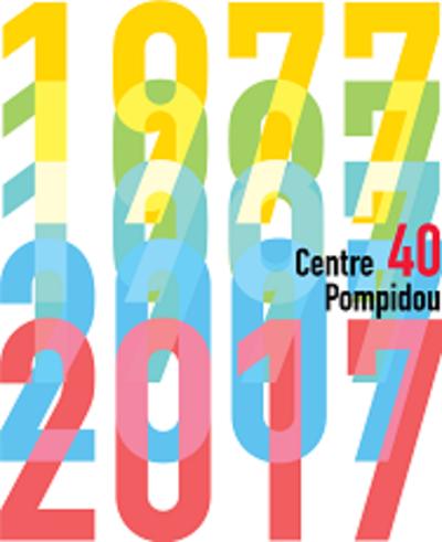 visuel des 40 ans du Centre Pompidou