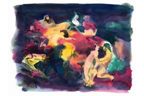 Illustration venant de Delacroix par Catherine Meurisse