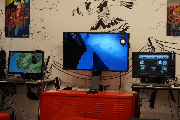 photo du salon jeux vidéo de la Bpi