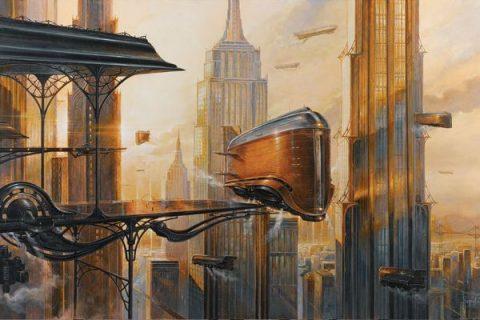 Illustration d'un paysage futuriste