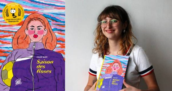 Portrait de Chloé Wary et couverture de Saison des Roses