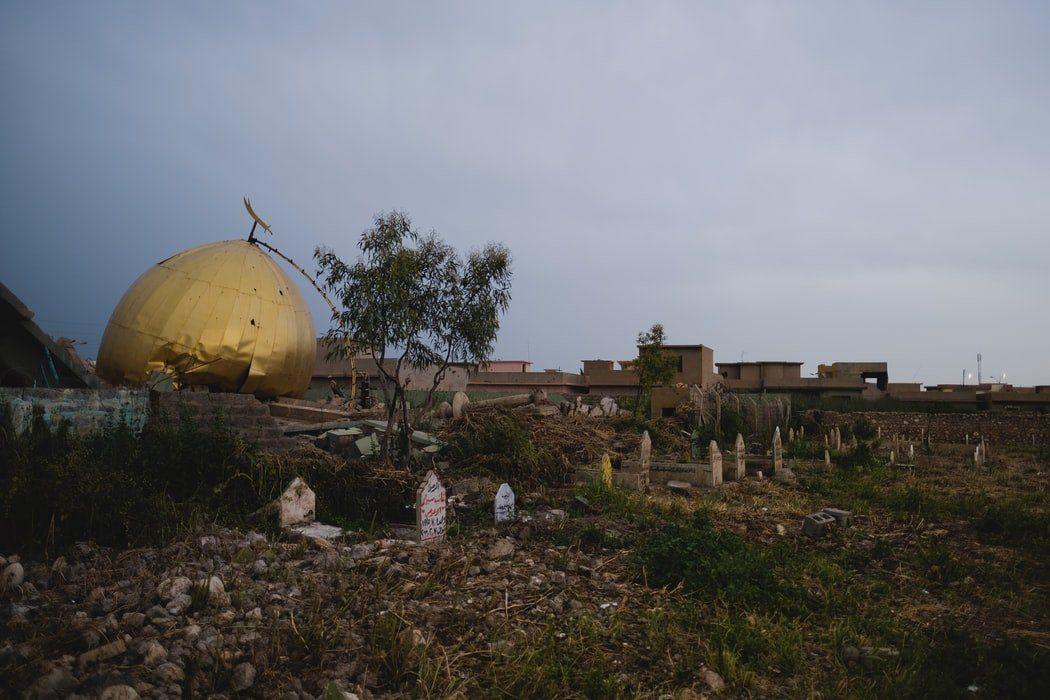 Sanctuaire Zakr al-Deen (Sinjar, Irak) détruit par l'Etat islamique