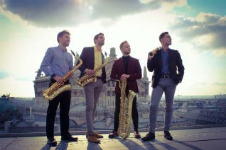photo des artistes du quatuor Gaman