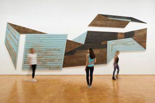 Photo d'une œuvre murale au Centre Pompidou