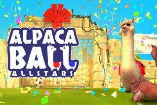 Visuel du jeu Alpaca Ball avec des Alpaca et des confettis