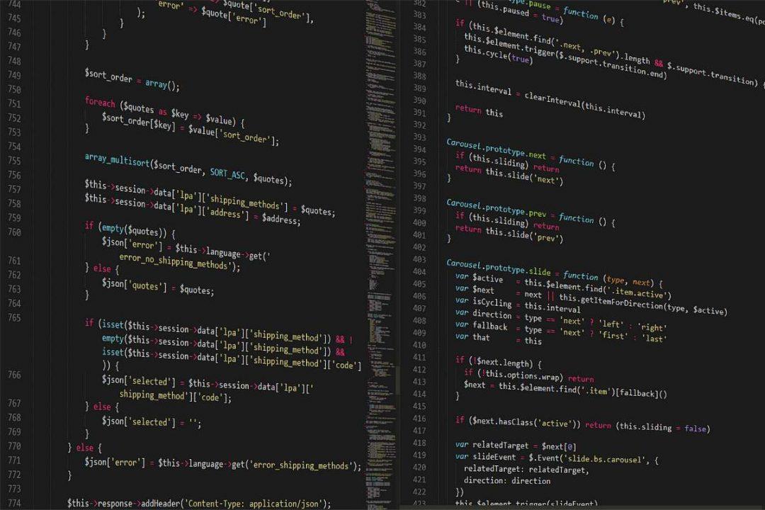 page web de code
