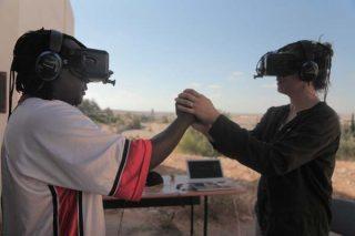 Une expérience de réalité virtuelle impliquant deux personnes