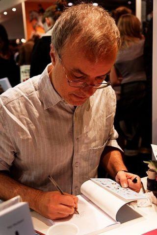 Emmanuel Guibert en dédicace au Salon du livre de Montreuil en 2012