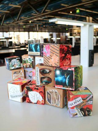 cubes illustrés pour des jeux philosophes
